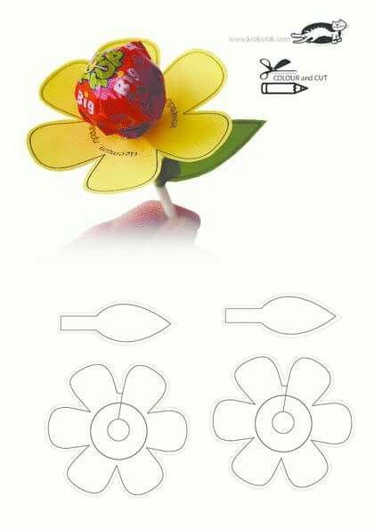 Цветок из чупа-чупса