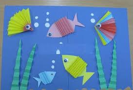 Рыбки из бумажных гармошек