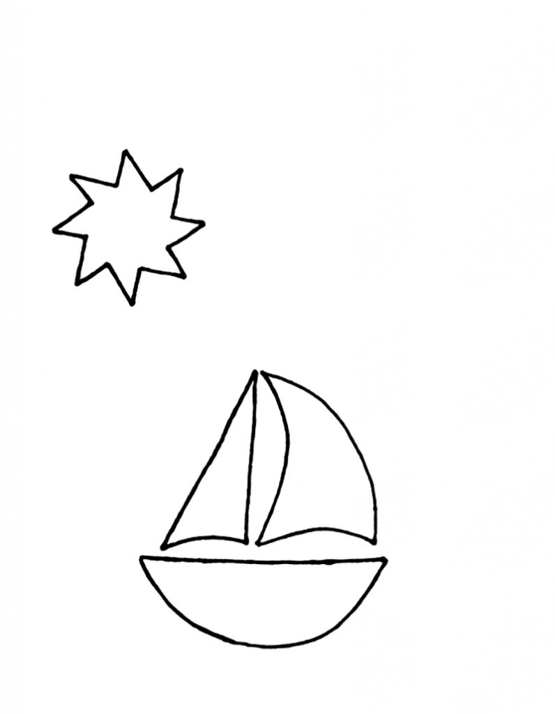 Шаблон кораблика