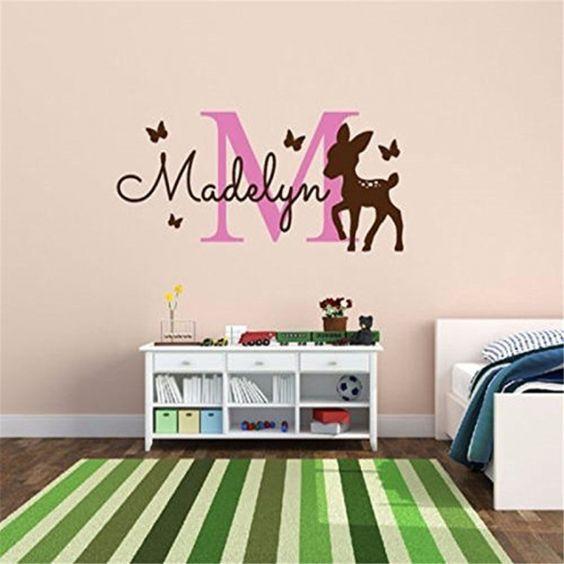 Декоративные наклейки на стену в комнату девочки