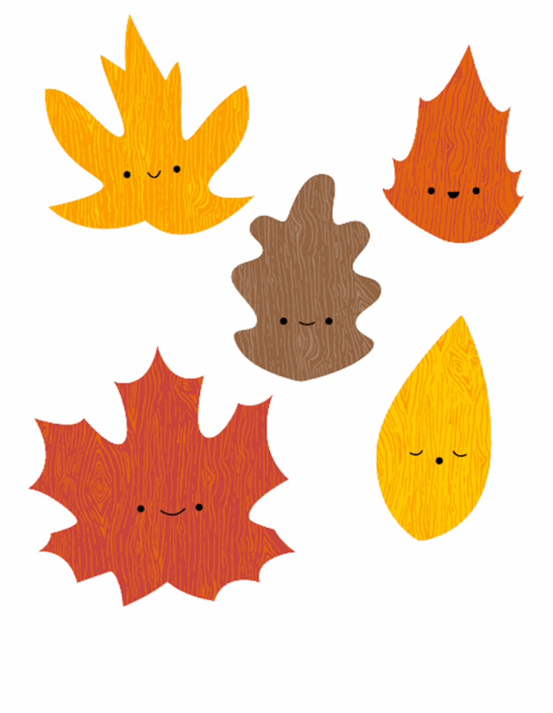 .Трафареты осенних листьев
