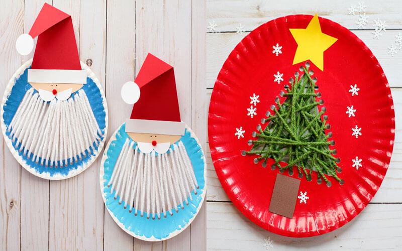 Новогодние поделки для детей из одноразовых тарелок