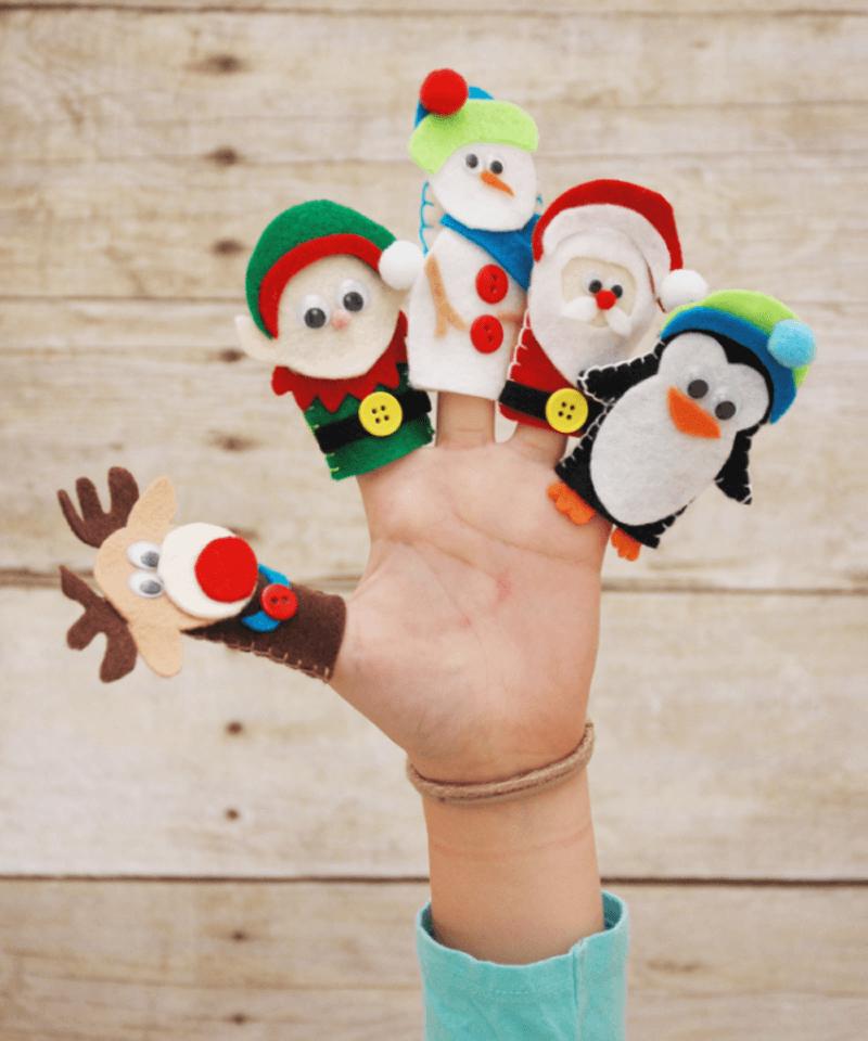 Новогодние игрушки на пальцы
