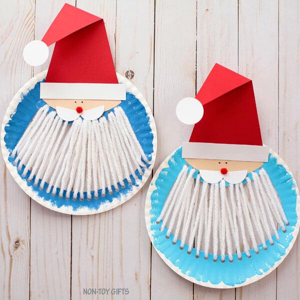 Новогодние детские поделки из одноразовых тарелок