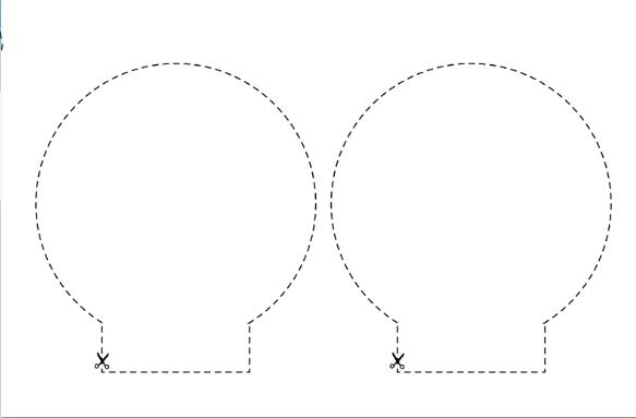 Выкройка ушек для ободка Микки Маус