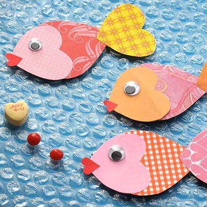 Валентинка в виде рыбки своими руками
