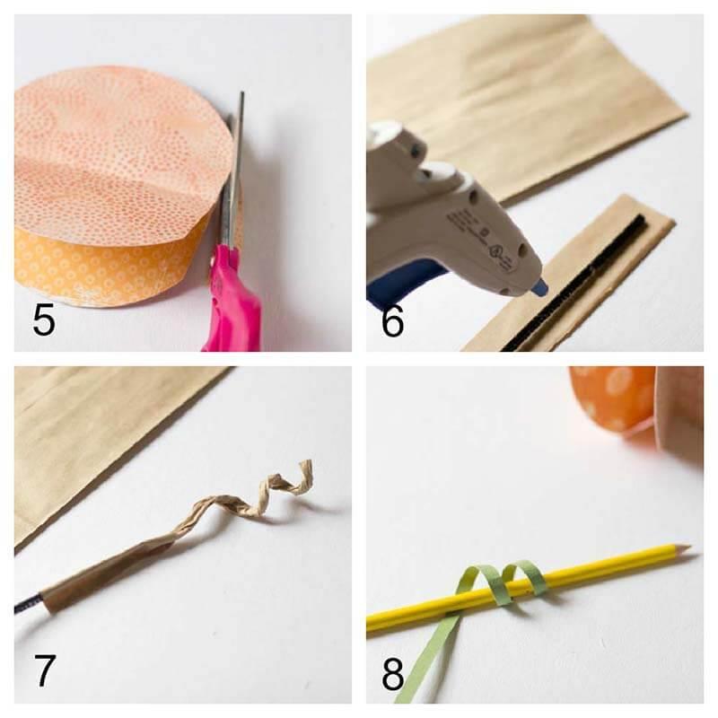 Декоративные бумажные тыквы