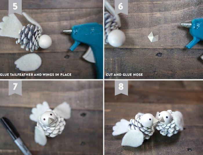 Как сделать птичку из фетра