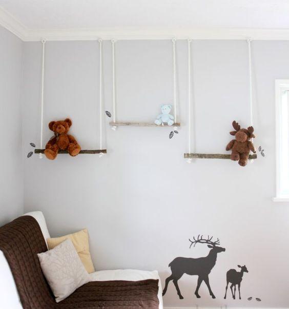 Полки с мишками в детскую комнату