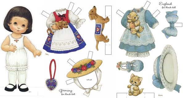 Бумажные куклы для девочек