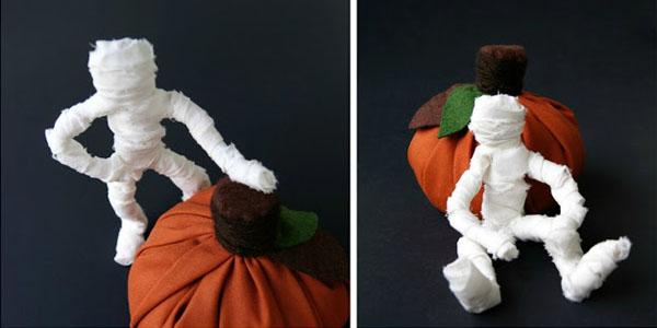 Мумия из проволоки и ткани к Хэллоуину