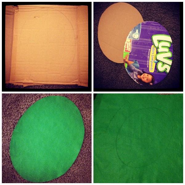 Как сделать панцирь черепахи для детского костюма