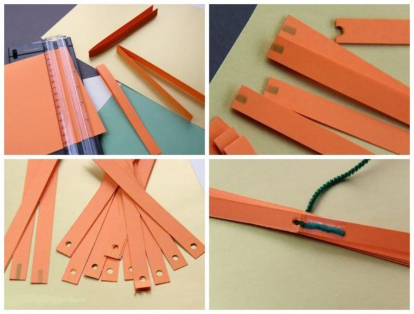 Как сделать тыкву из полосок бумаги
