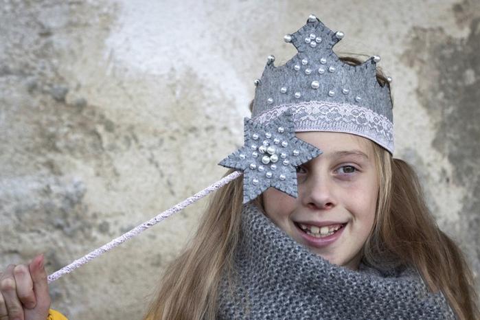 Новогодняя корона для маленькой феи
