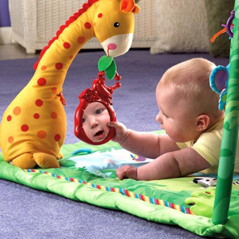 Детский коврик с зеркалом