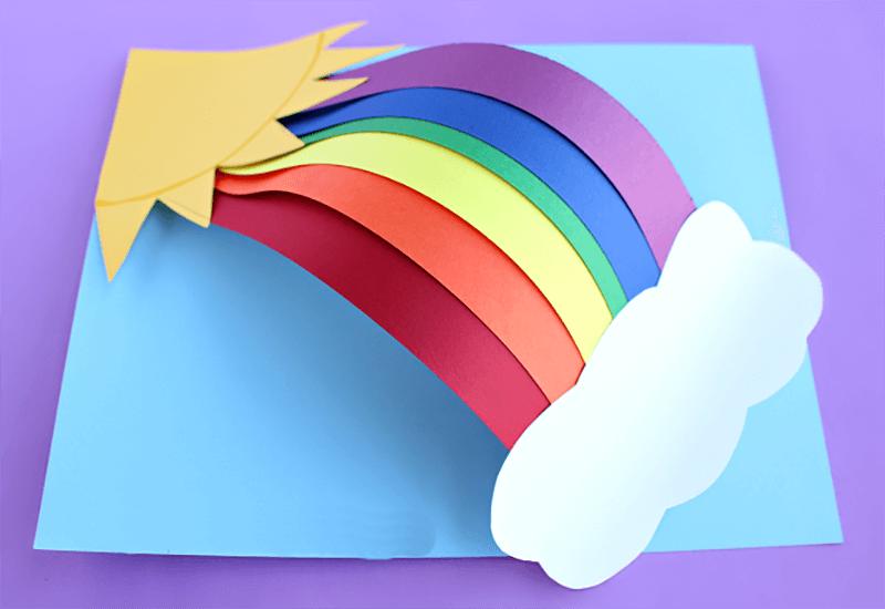 Объемная радуга из бумаги
