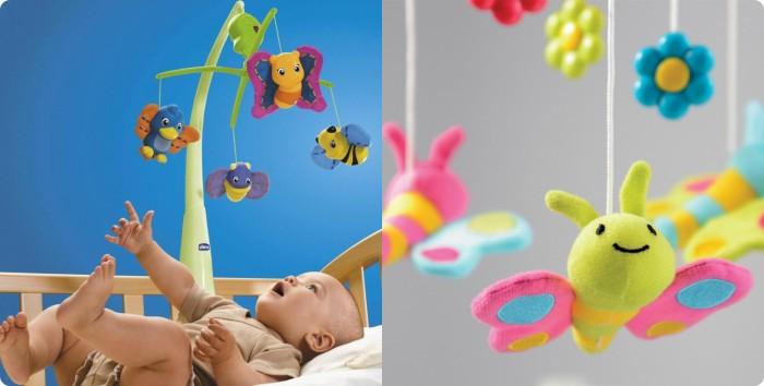 Мобиль на кроватку с мягкими игрушками