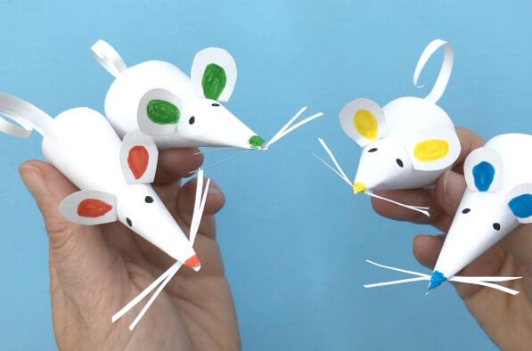 Как сделать мышек, крыс из бумаги к Новому году 2020?