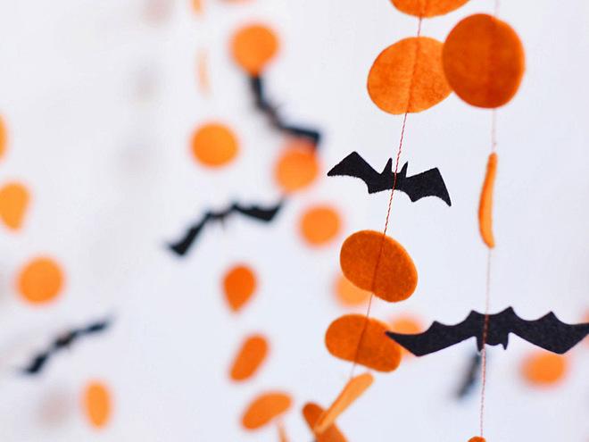 Гирлянда из фетра на Хэллоуин