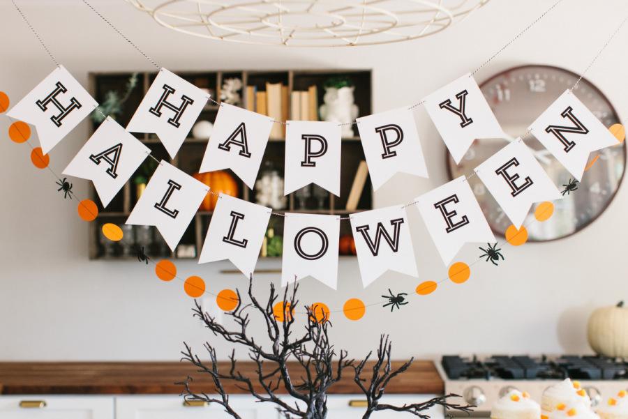 Мастер-класс: гирлянды на Хэллоуин