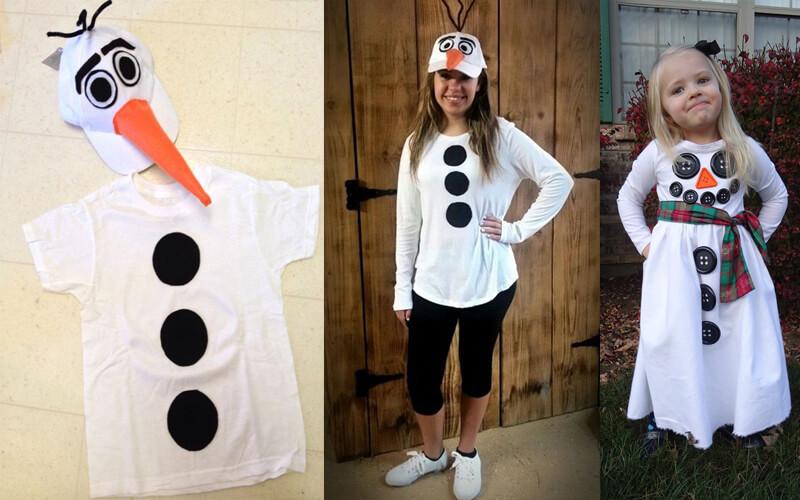Костюм снеговика для девочки и мальчика своими руками