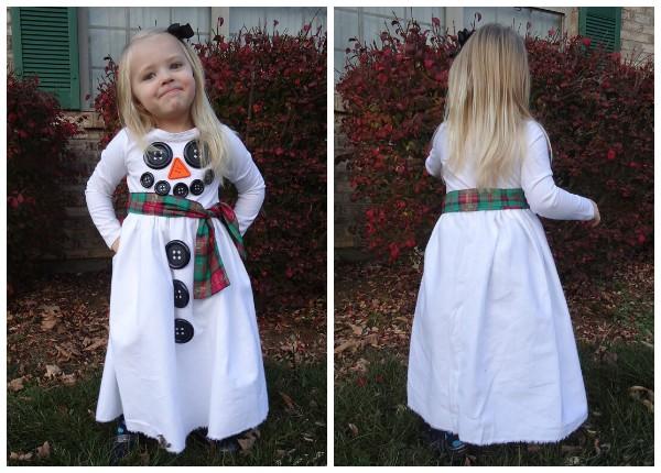 Платья в виде снеговика