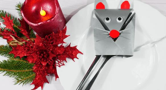 Мышь из бумаги своими руками: новогодние поделки для детей