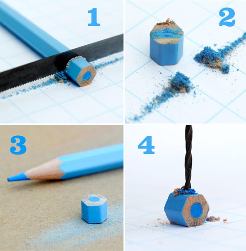 Как сделать бусины из остатков карандашей