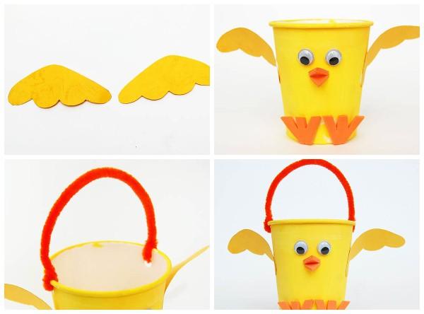 Как сделать цыпленка из стаканчика 2